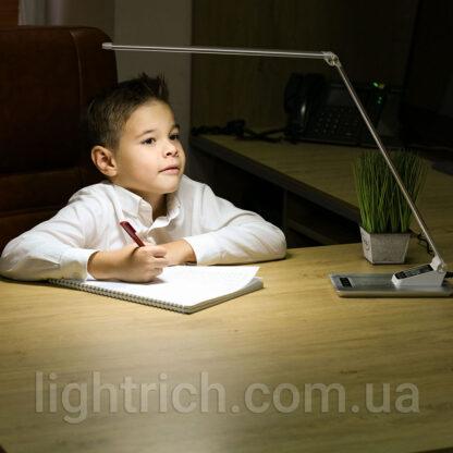 Сенсорна настільна лампа Lightrich TC-180 з годинником і термометром, Black