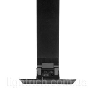 Настольная лампа Lightrich TC-180 c часами и термометром, Black