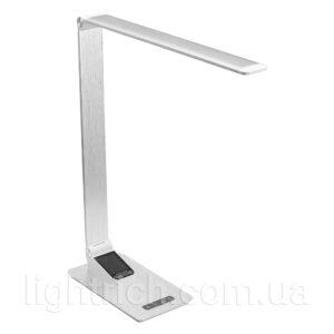 Настольная лампа Lightrich TC-180 c часами и термометром, Silver