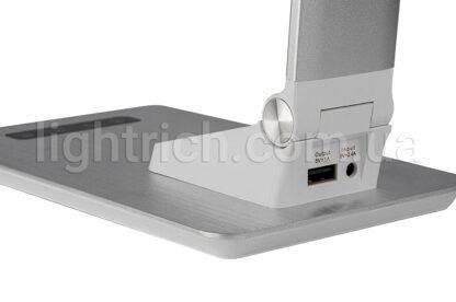 Сенсорна настільна лампа Lightrich TC-180 з годинником і термометром, Silver