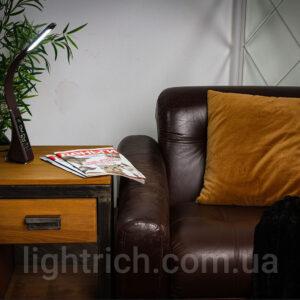 Настольная лампа Lightrich T-158 c часами и термометром, Brown