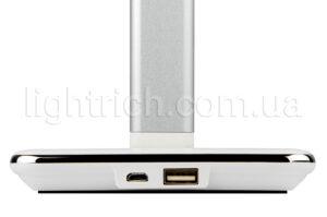 Настольная лампа Lightrich WD102 с беспроводной зарядкой, White