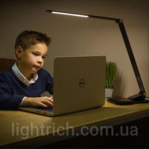 Сенсорная настольная лампа Lightrich TX-180 c беспроводной зарядкой, Black