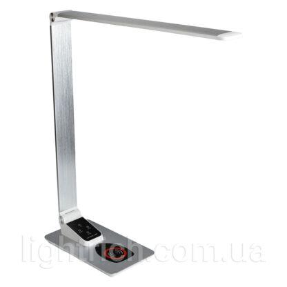 Сенсорна настільна лампа Lightrich TX-180 c бездротовою зарядкою, Silver