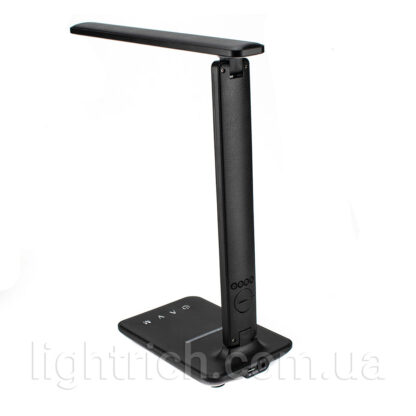 Настольная лампа Lightrich TX26C с беспроводной зарядкой, Black